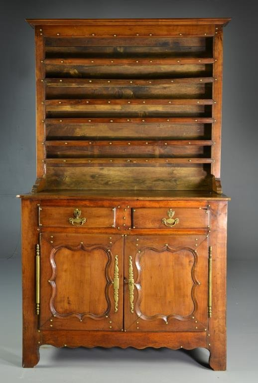 18th Century Country French Fruit Wood High Dresser