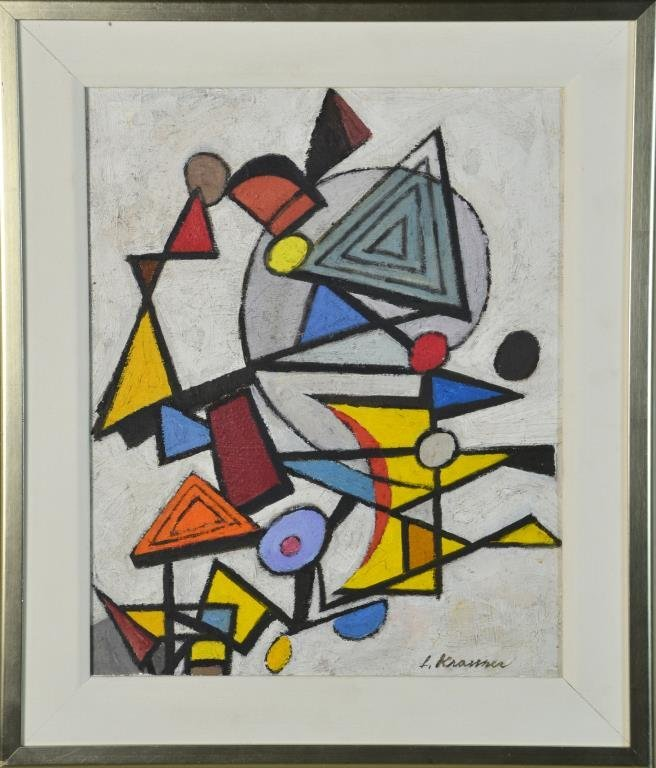 Attributed to Lee Krasner Oil Painting on Board