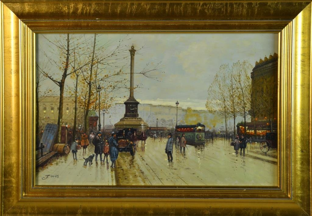 Manner of Eugene Galien-Laloue Oil Painting on Canvas