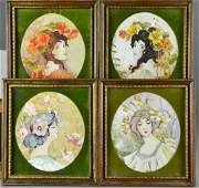4 Anthony Orlando Watercolor Paintings on Paper
