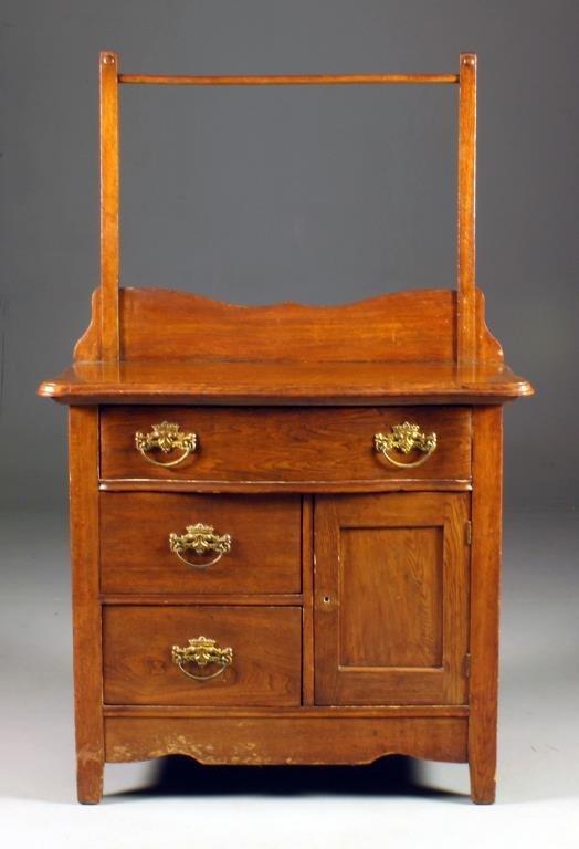 A Victorian Oak Wash Stand