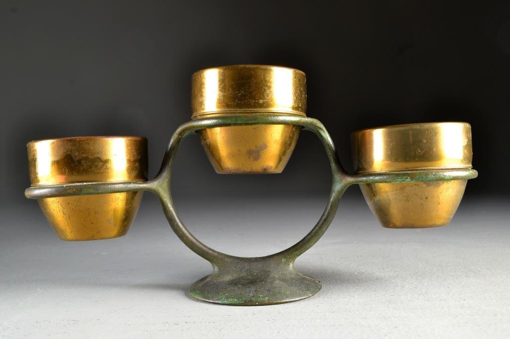 A Chase Bronze & Copper Centerpiece