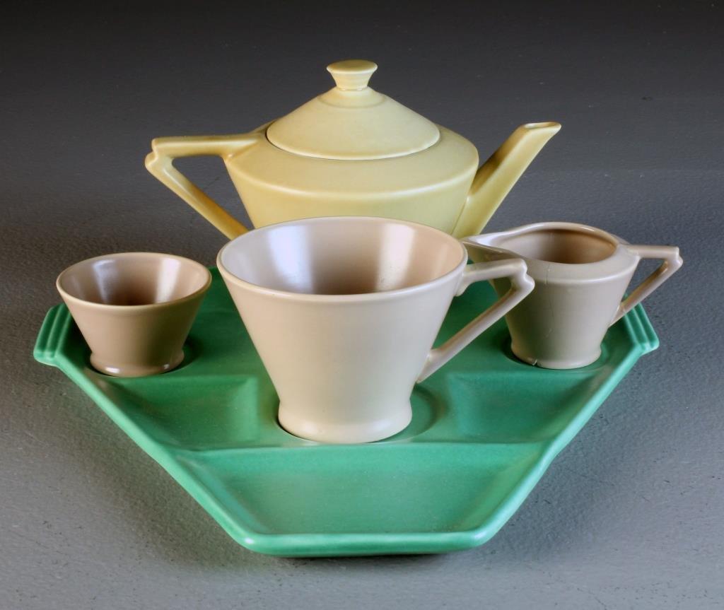 A (5) Pc Royal Cauldon Art Deco Tea Set