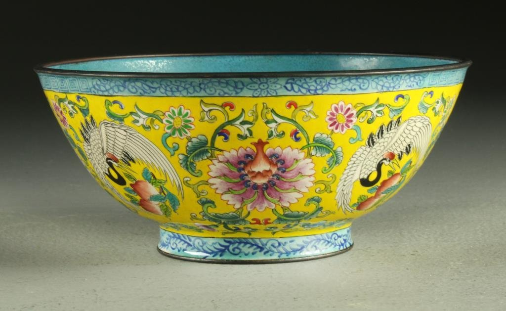A Finely Painted Chinese Enamel Bowl
