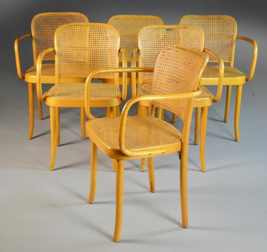 (12) Czechoslovakian Bentwood Arm Chairs