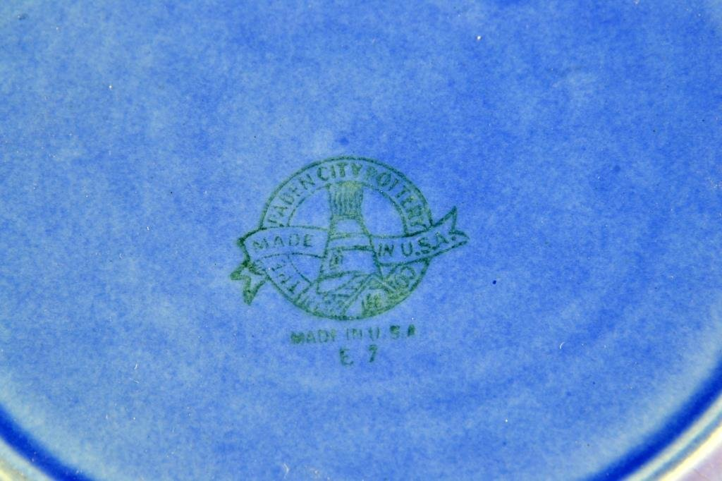 (6) Paden City Pottery Blue Willow Dinner Plates - 2