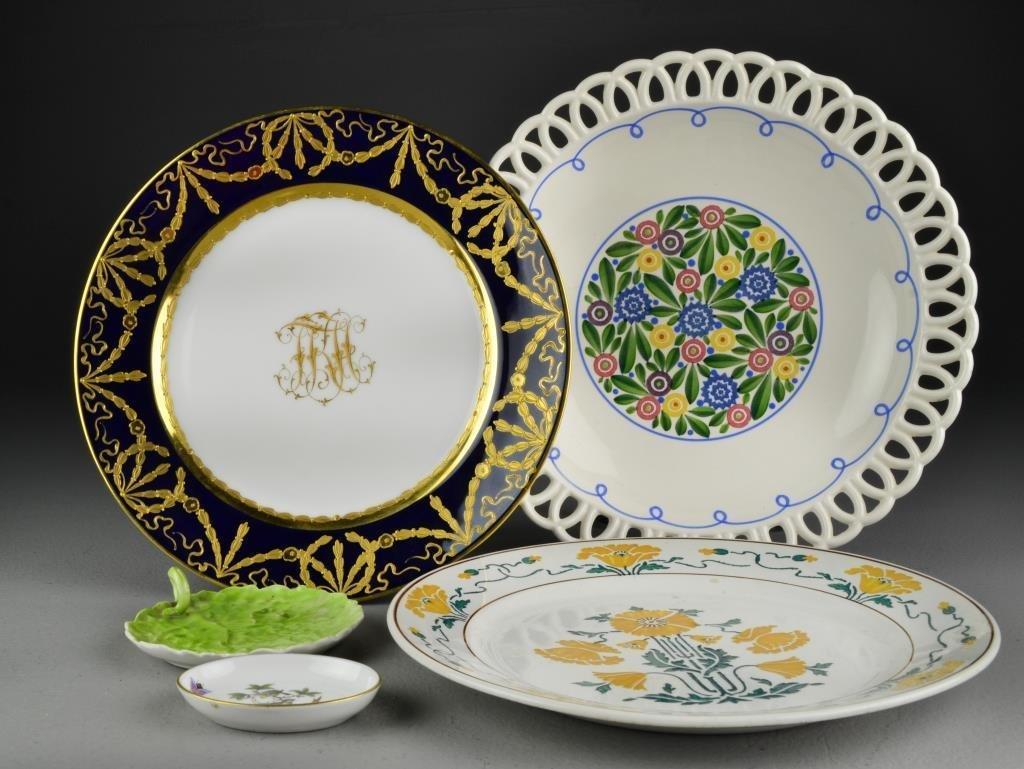 (5) Pieces German and Hungarian Porcelain