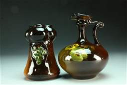 2 Pcs Antique Weller Art Pottery