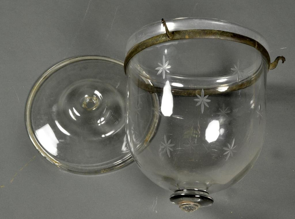 Anglo-Indian Etched Glass Dome Lantern
