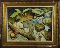 Attributed to Thomas Hart Benton Painting on Board