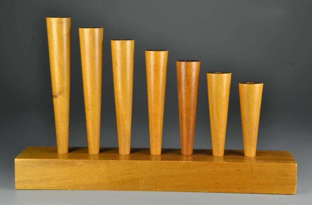 Mike Nevelson Wood Sculptural Menorah