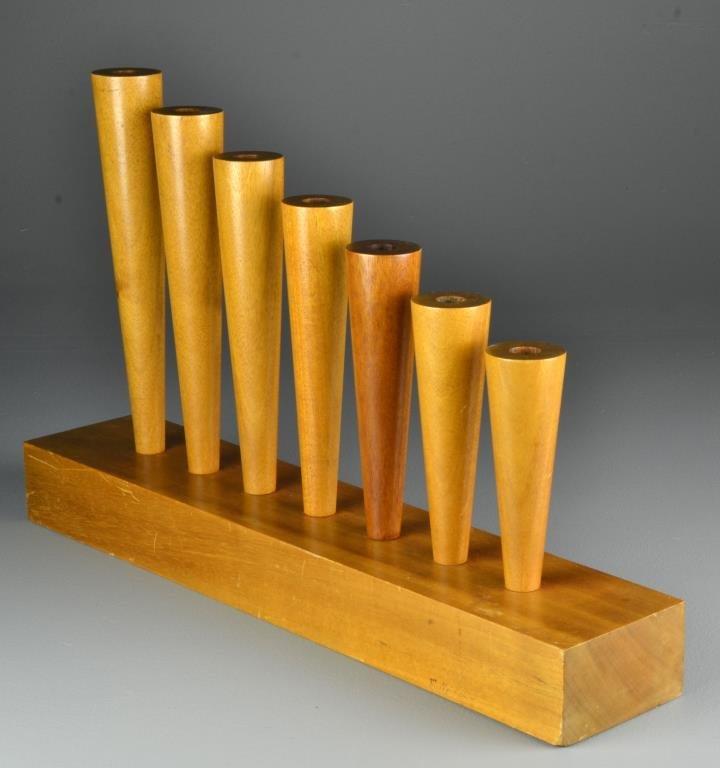 Mike Nevelson Wood Sculptural Menorah - 2