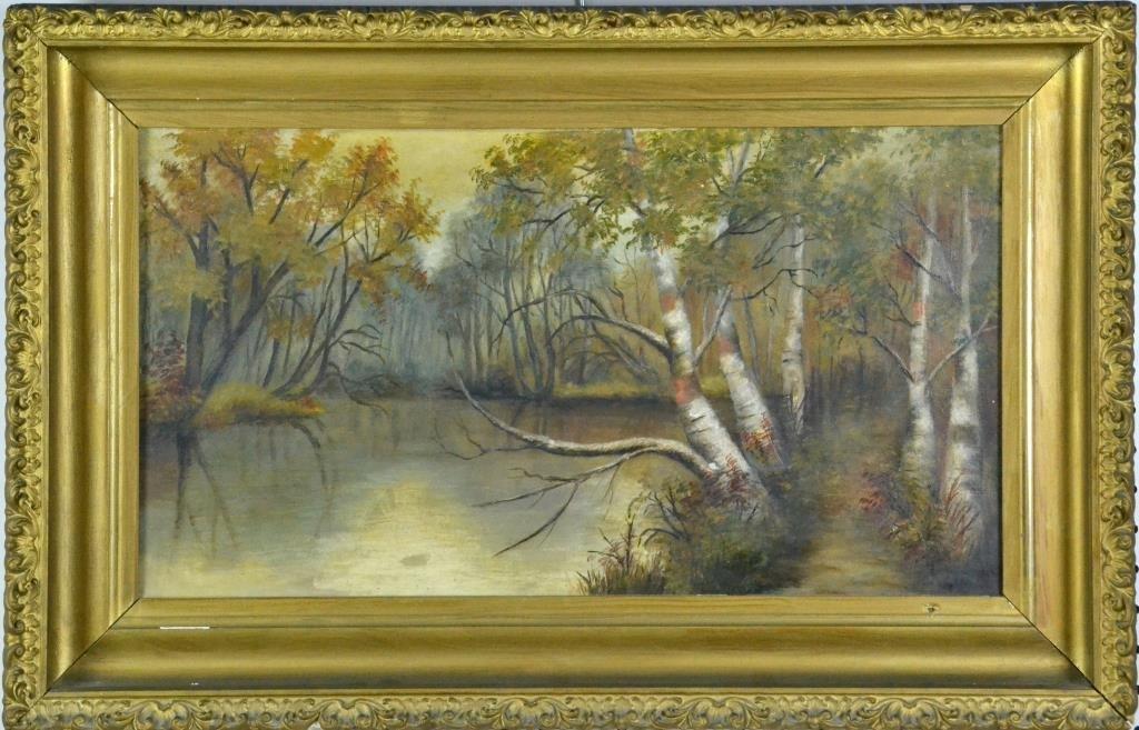 Hudson River School Oil on Canvas Riverscape