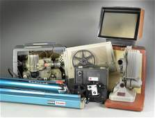 6Grouping of Various Film Projectors  Screens