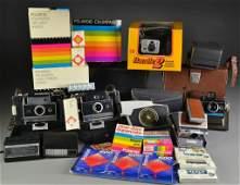 10 Grouping of Cameras Incl Polaroid  Kodak