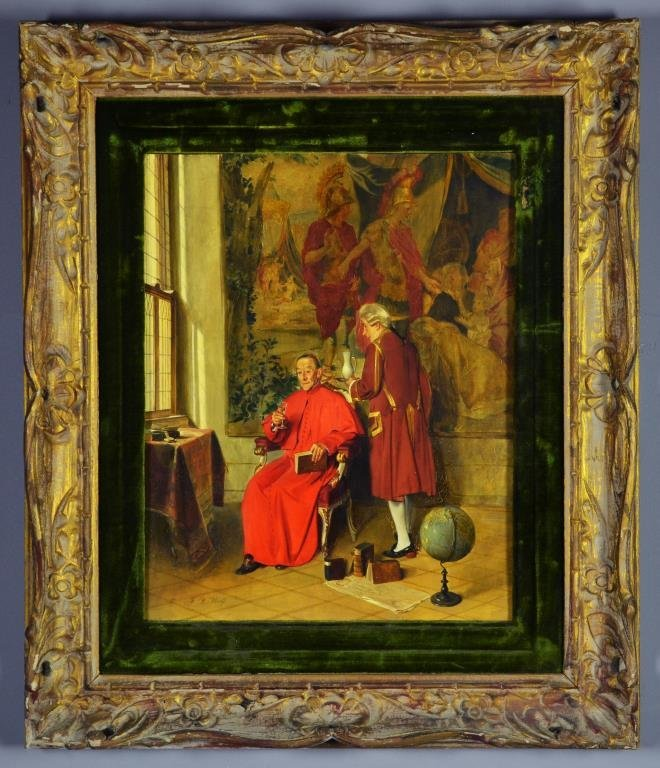 A Franz Xaver Wolf Oil Painting on Board