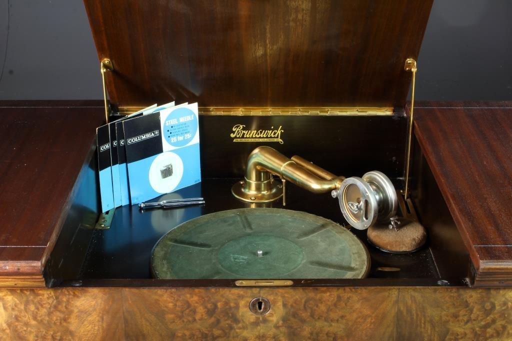 A Brunswick Model T- 139343 Phonograph In Cabinet - 2