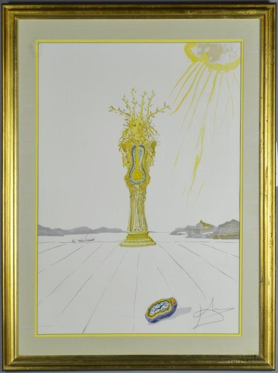 Dali Signed Lithograph Barometer Woman  # Meuble Tv D'Angle Salvador