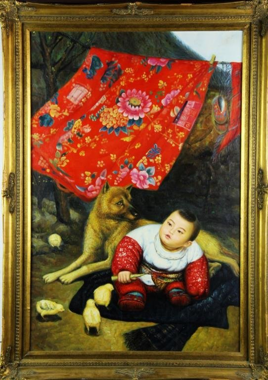 A Chinese Contemporary Oil Painting on Canvas