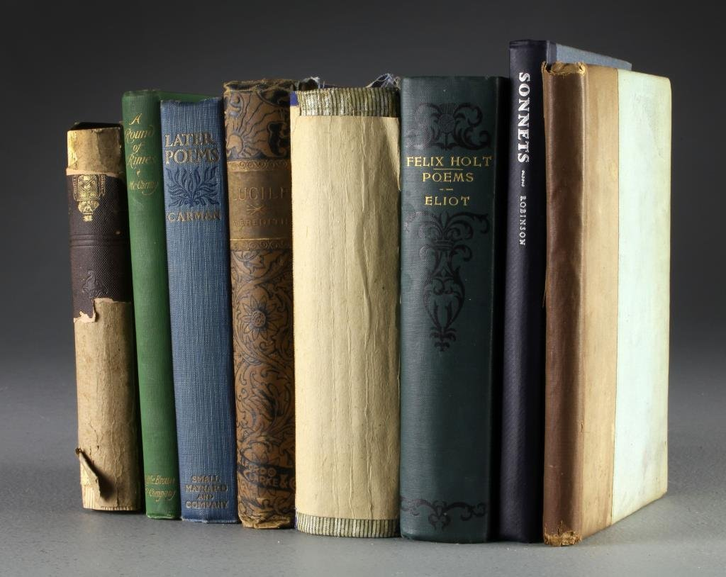 (8) 19th To Early 20th Century Books On Poetry
