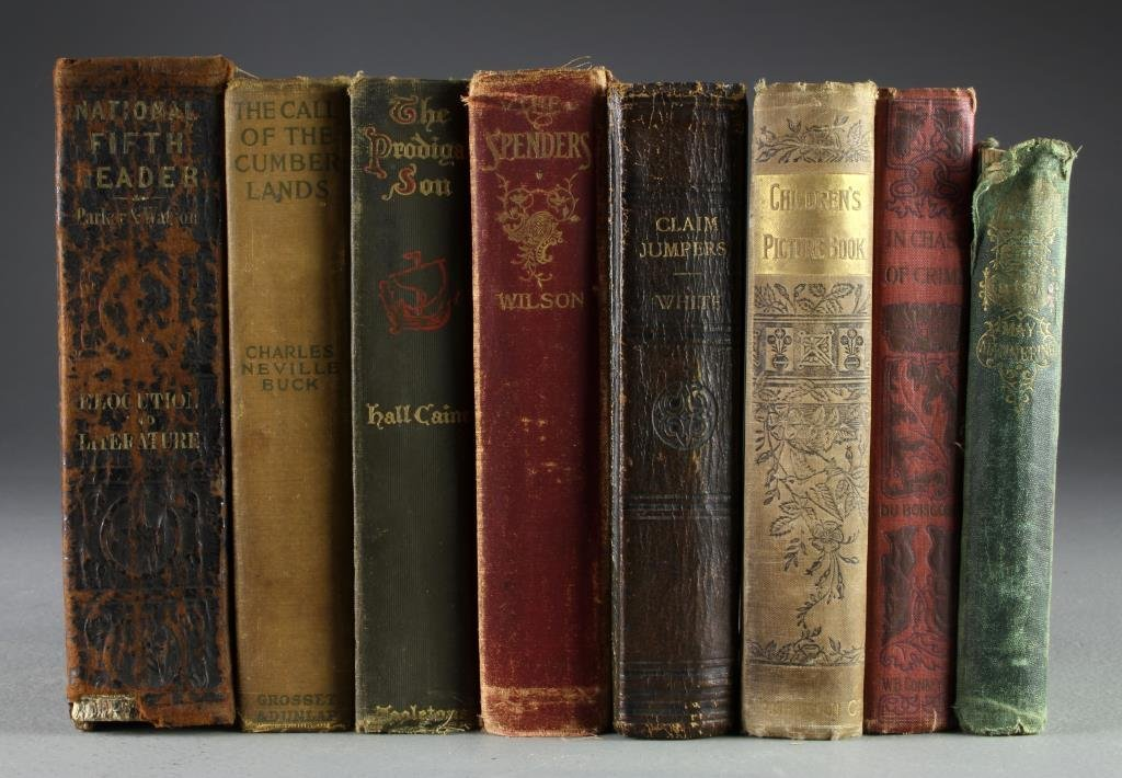 (8) 19th To Early 20th Century Various Novels & Books