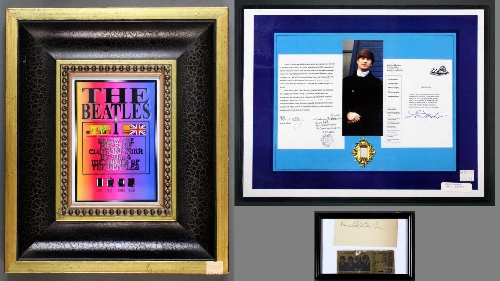 (4)Signed P. McCartney, J. Lennon Hair & The Beatles