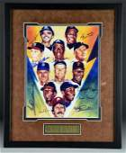 500 Home Run Club Framed Print Signed By Eleven Players
