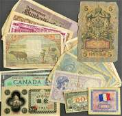 14 Early To Mid 20th Century Foreign Bills