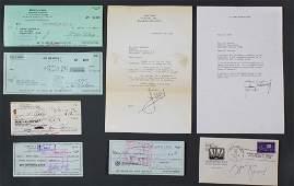 9 Signed Checks Letters Zeppo Marx Helen Hayes