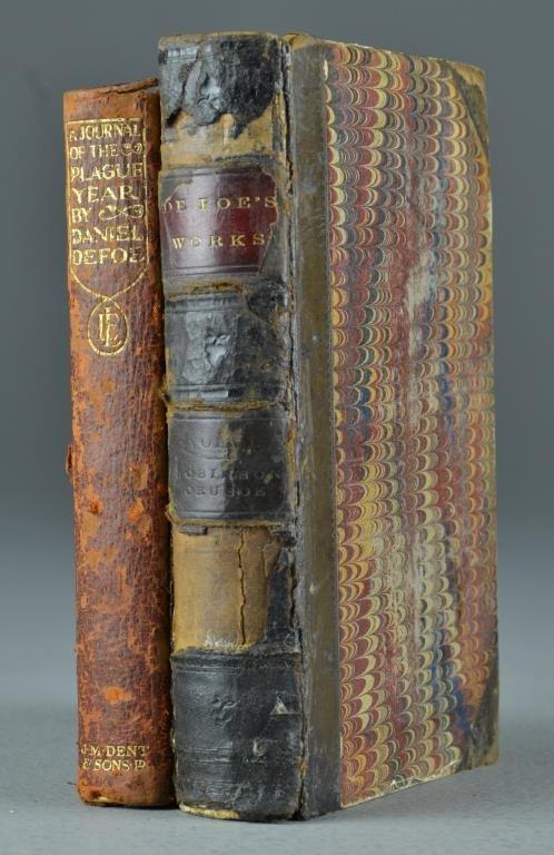 1859 & 1911 Robinson Crusoe & Journal Of Plague,  Defoe