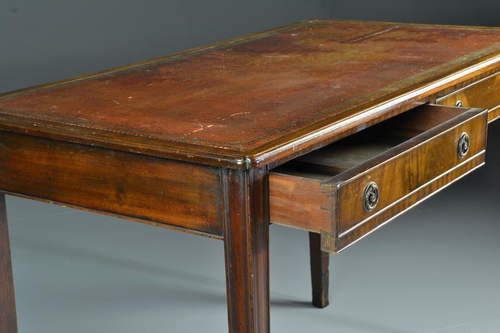Antique English Chippendale Two Drawer Writing Desk - 2