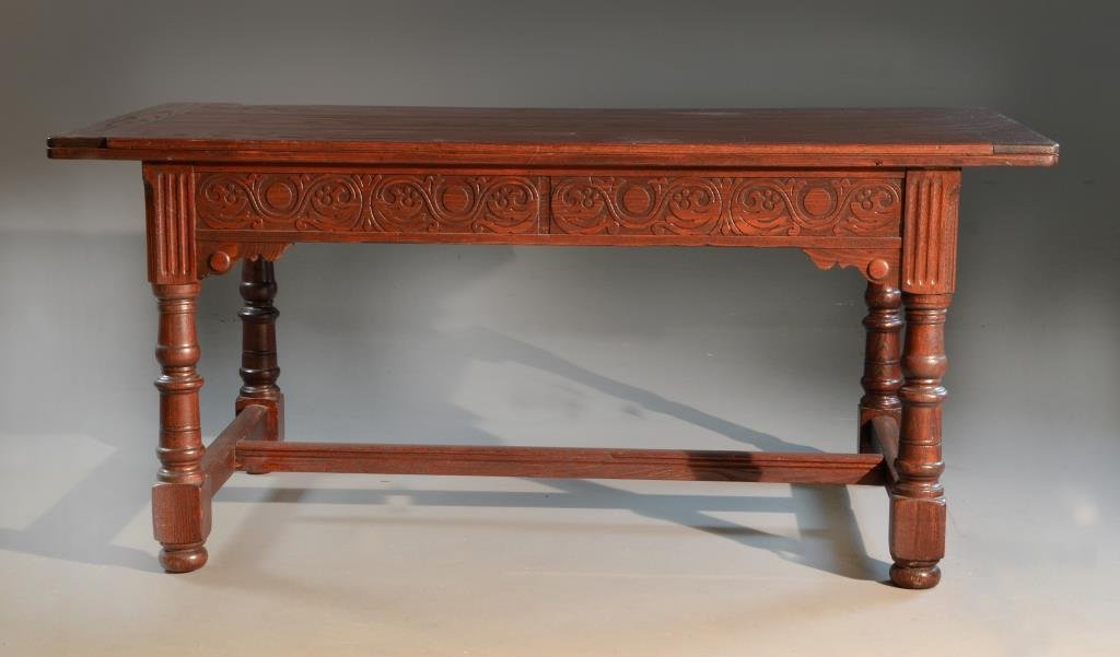 Antique Two Drawer Renaissance Revival Writing Table