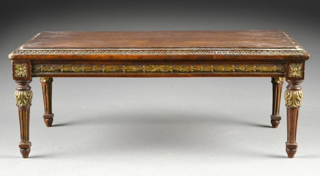 Louis  XVI Style Mahogany  Miniature Dining  Table