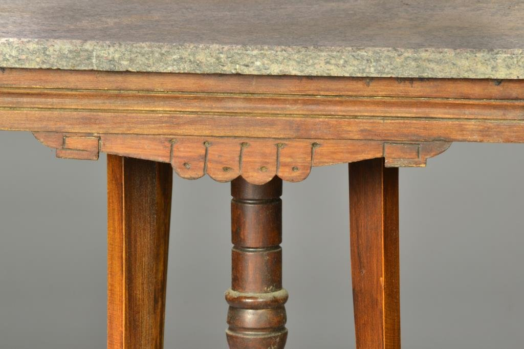 Carved Victorian Marble Top Table - 2