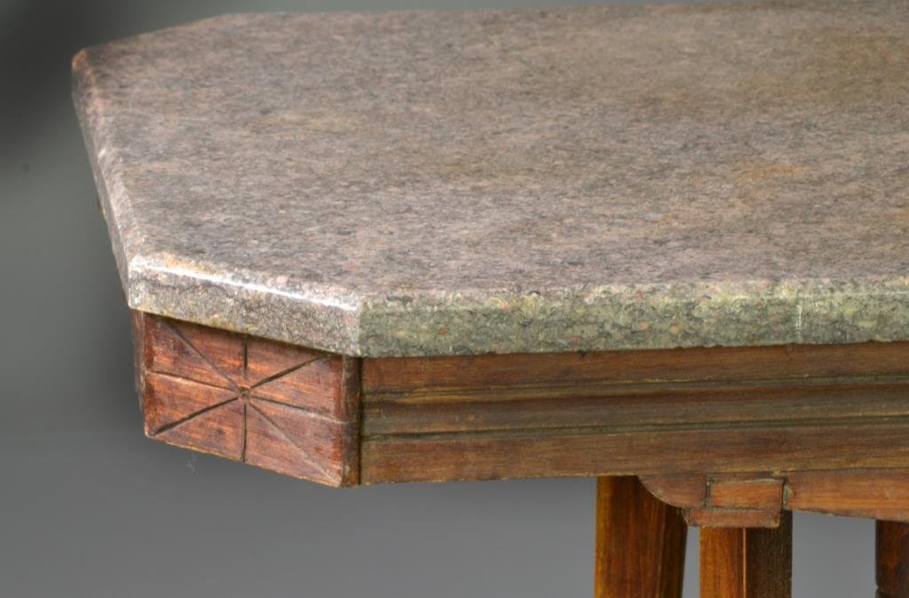 Carved Victorian Marble Top Table - 4