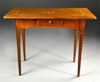 A Fine Louis XVI Inlaid Mahogany Side Table