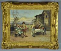 A Cesare Auguste Detti Oil Painting on Board