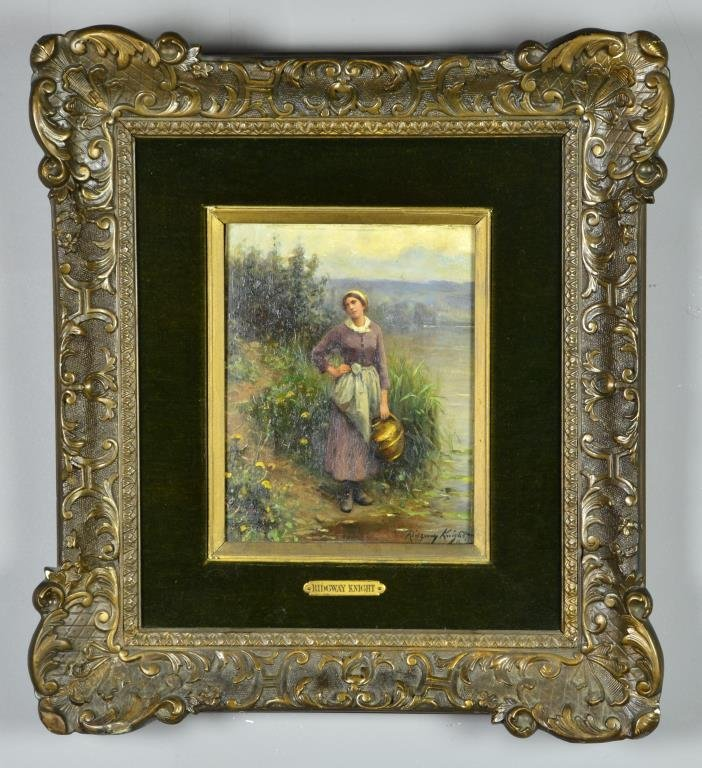 A Daniel Ridgway Knight Oil Painting on Board