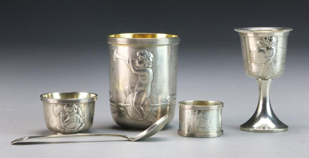 Strube & Sohn German Silver Communion Set