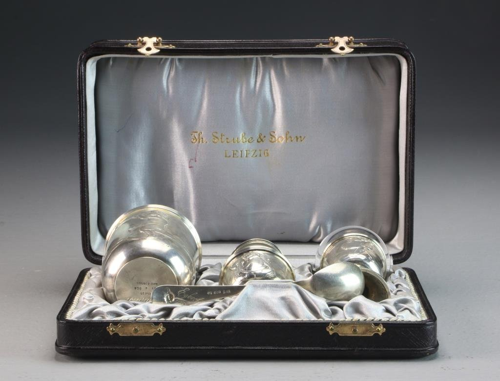 Strube & Sohn German Silver Communion Set - 2