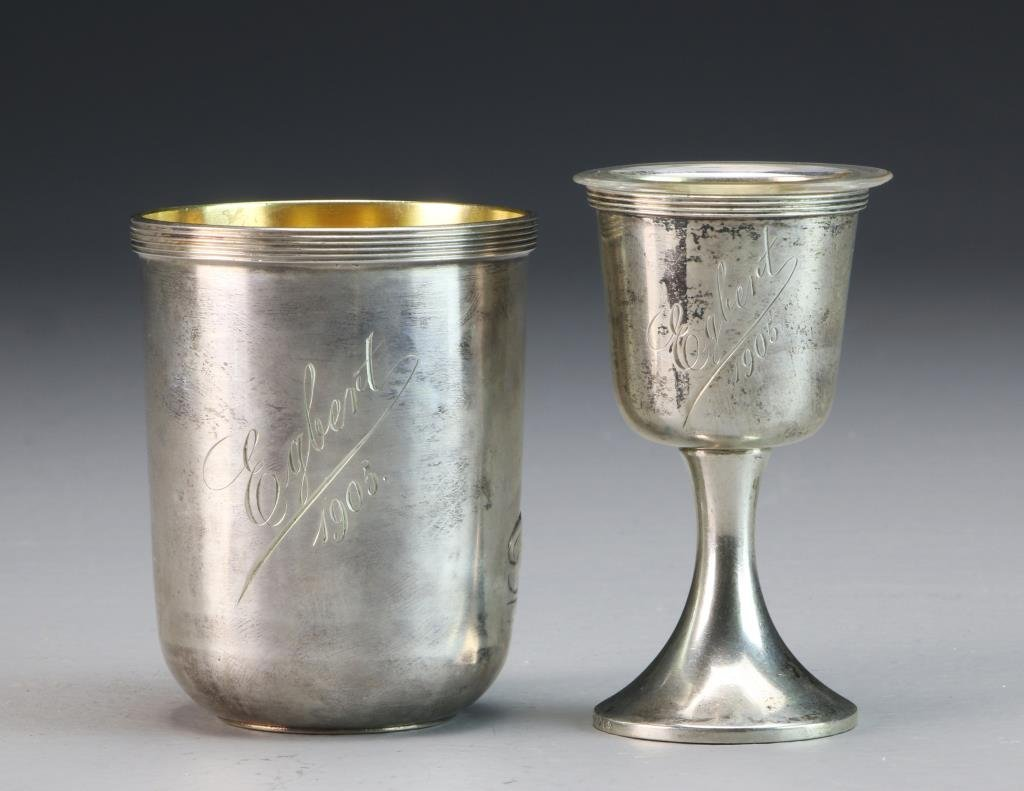 Strube & Sohn German Silver Communion Set - 4