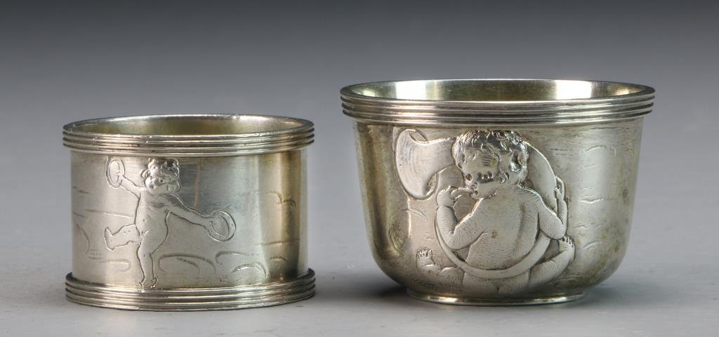 Strube & Sohn German Silver Communion Set - 8