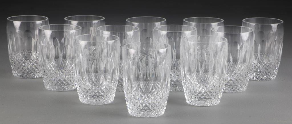 (12) Waterford Cut Crystal Whiskey Glasses