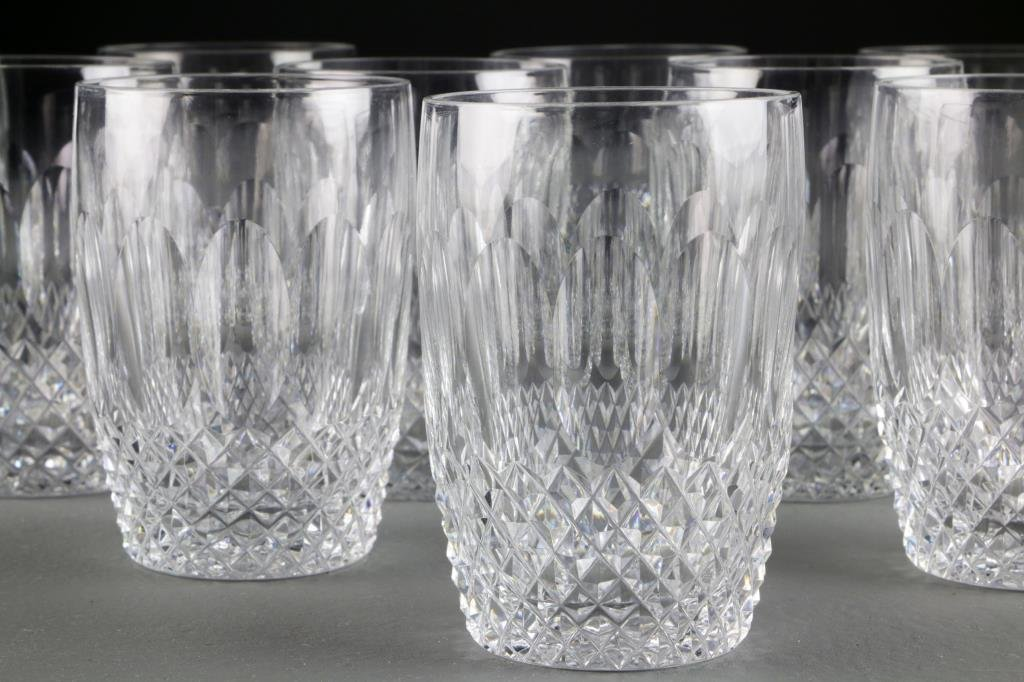 (12) Waterford Cut Crystal Whiskey Glasses - 3