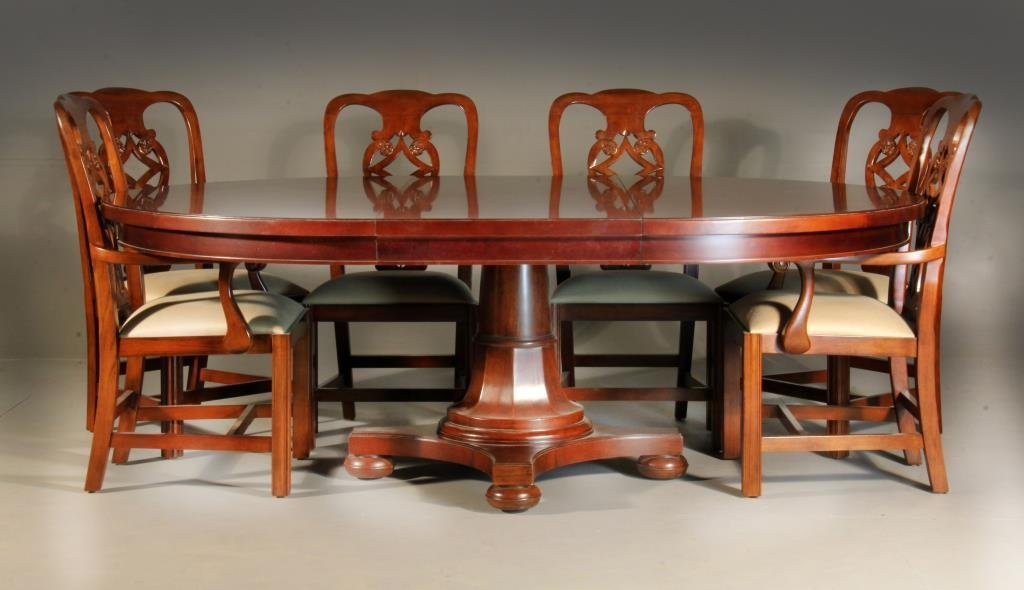 (8) Pc Bernhardt Mahogany Dining Set - 2