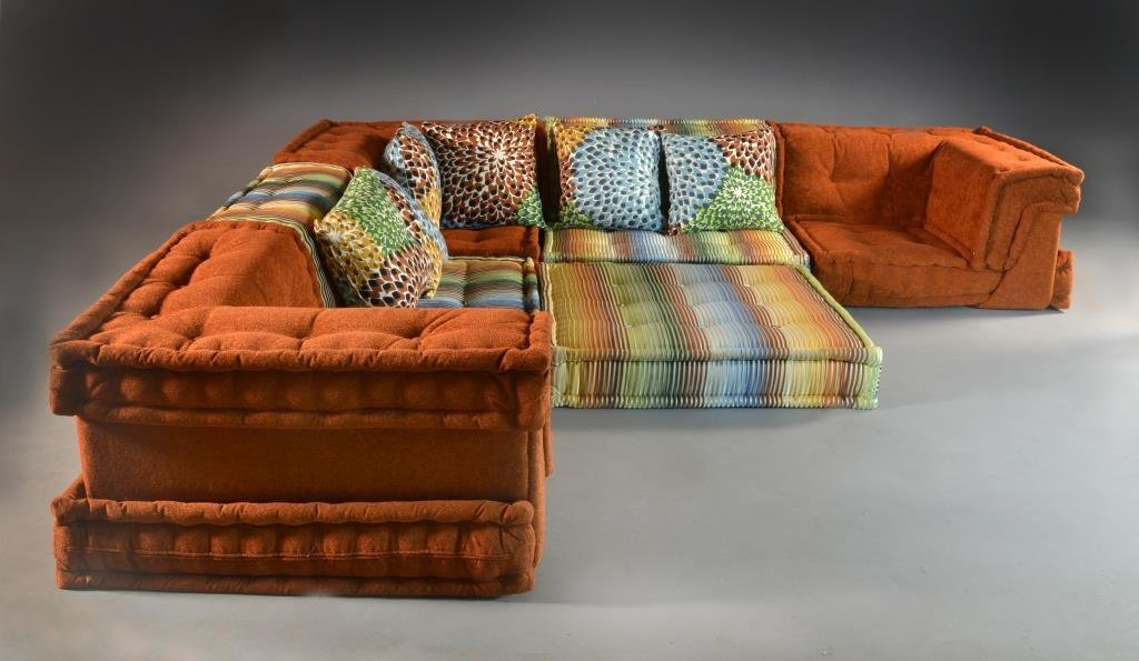 6 pc roche bobois hans hopfner mah jong sofa - Prix canape mah jong roche bobois ...