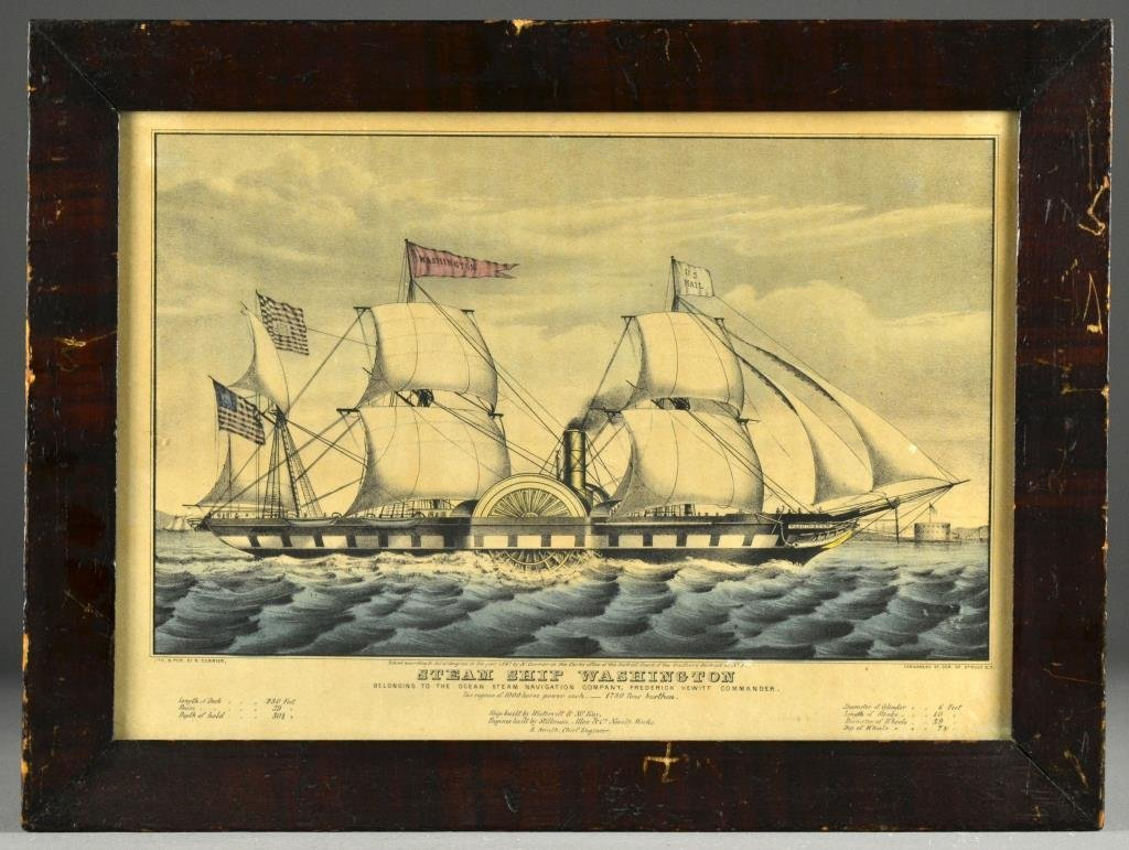 N. Currier Colored Lithograph