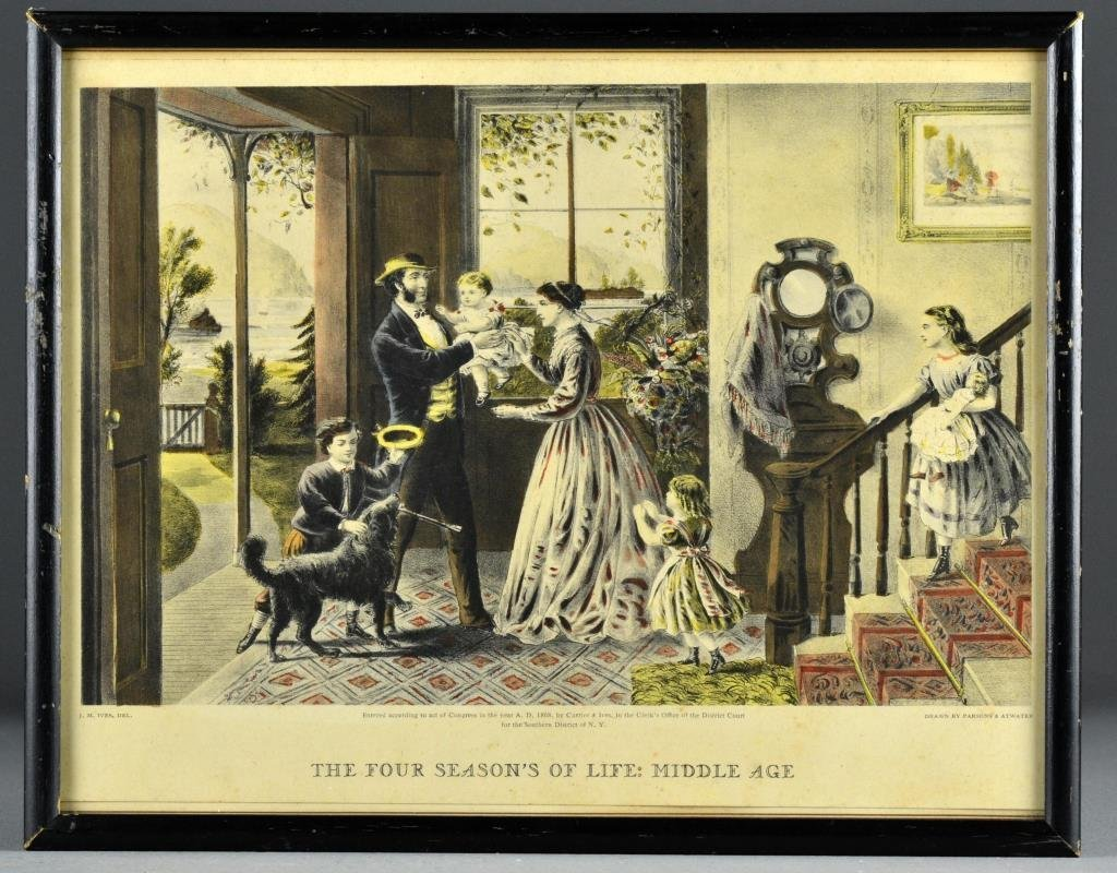 An Original Currier & Ives Hand Colored Lithograph