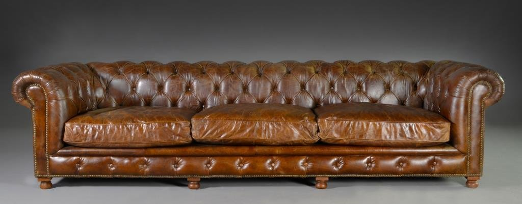 Restoration Hardware Kensington Leather Sofa