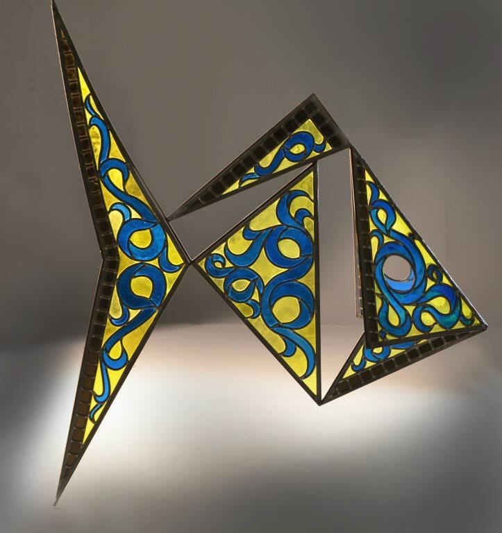 A Gordon Hipp Stained Glass Sculpture